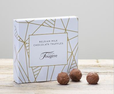 140g Maison Fougere Belgian Chocolate Truffles: Booker Flowers and Gifts