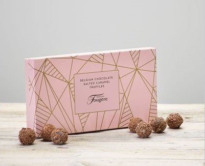 170g Maison Fougere Salted Caramel Truffles: Booker Flowers and Gifts