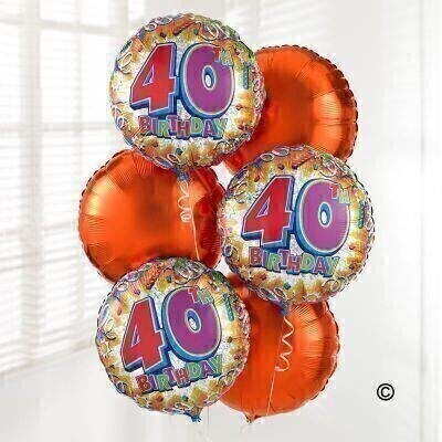 40th Birthday Balloon Bouquet: Booker Flowers and Gifts