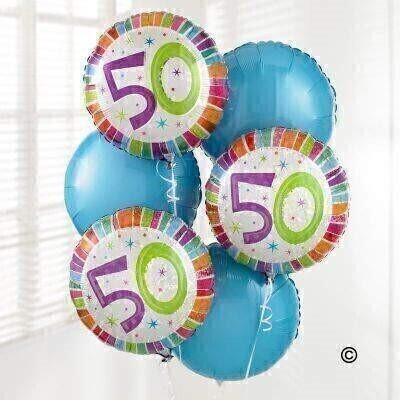 50th Birthday Balloon Bouquet: Booker Flowers and Gifts
