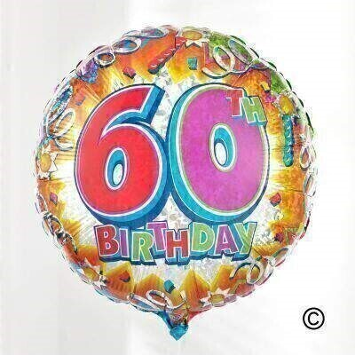 60th Birthday Balloon: Booker Flowers and Gifts