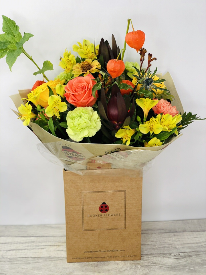 Autumn Delight Bright Flowers Bouquet: Booker Flowers and Gifts