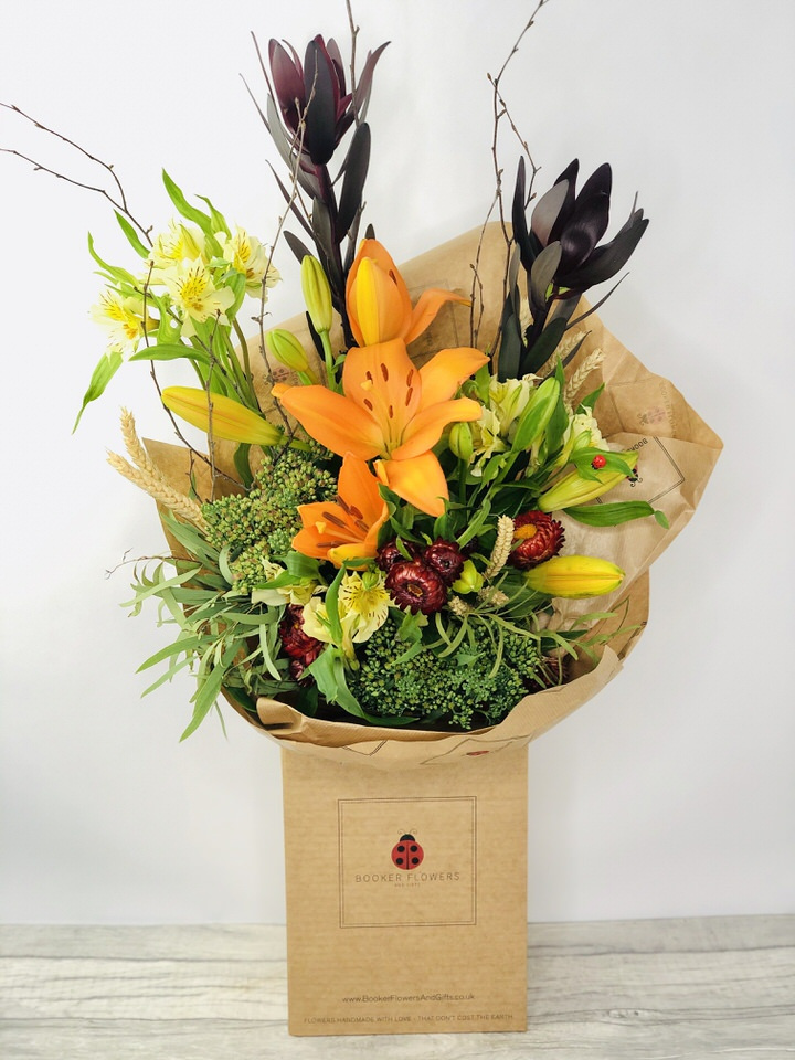 Autumn Harvest Orange Lily Bouquet: Booker Flowers and Gifts