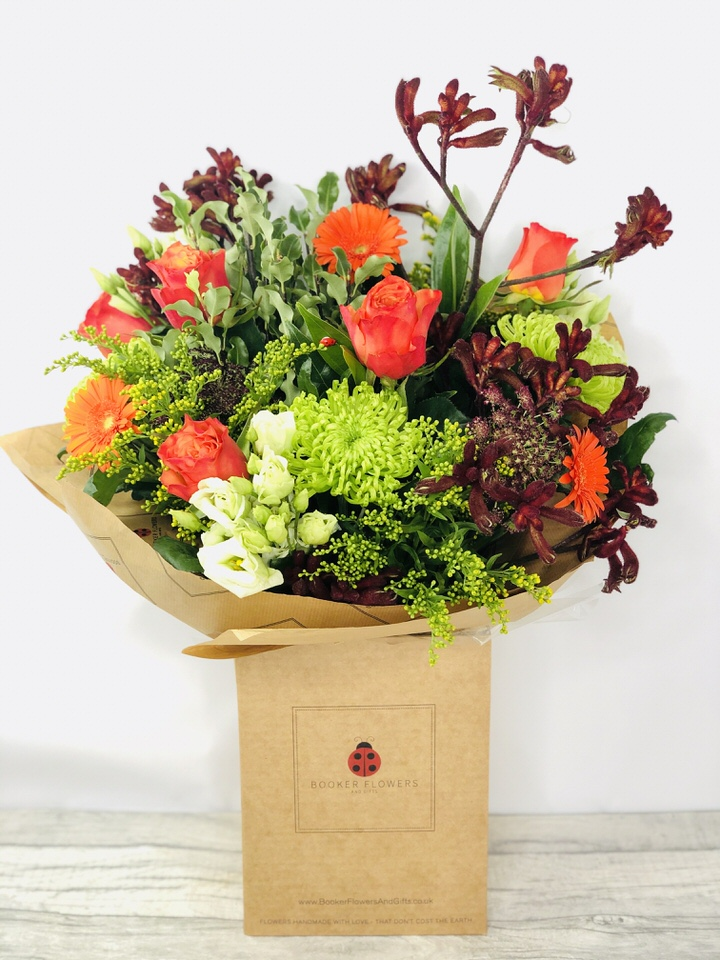 Autumn Nights Handtied Bouquet: Booker Flowers and Gifts