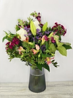 Botanical Blush Vase of Flowers: Booker Flowers and Gifts