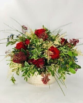 Christmas Luxury Table Arrangement Large: Booker Flowers and Gifts