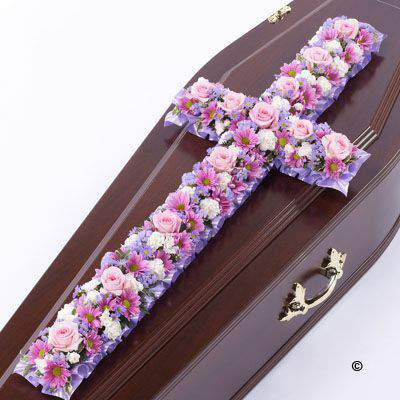 Classic Cross - Pink and Lilac Extra Large: Booker Flowers and Gifts