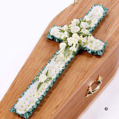 Classic Cross - White Large: Booker Flowers and Gifts