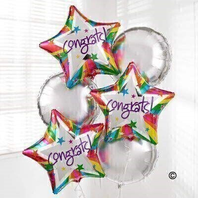 Congratulations Balloon Bouquet: Booker Flowers and Gifts