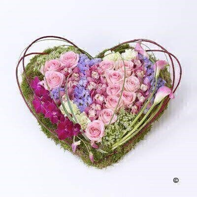 Contemporary Heart: Booker Flowers and Gifts