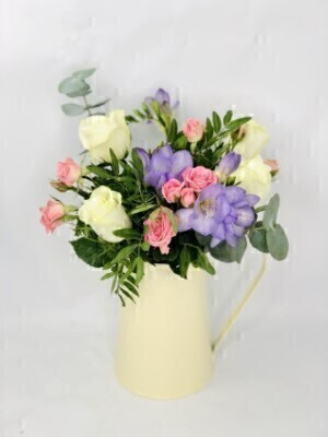 Daydream Believer Flowers in a Jug: Booker Flowers and Gifts