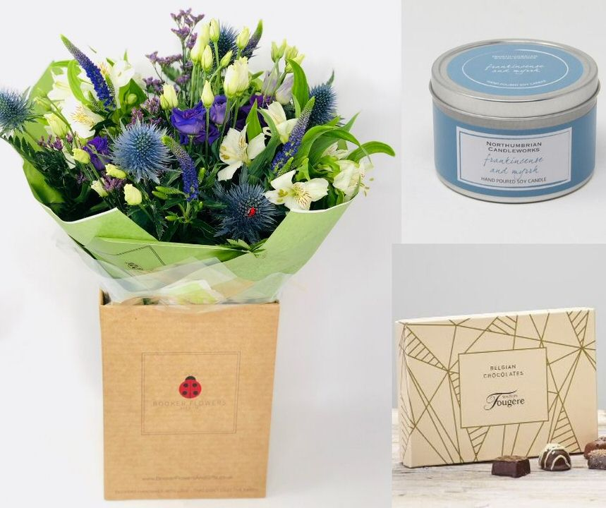December Birthday Flowers Gift Set: Booker Flowers and Gifts