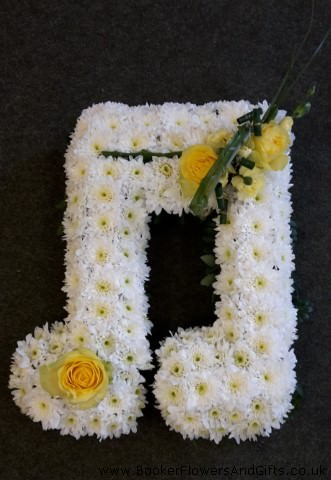 Double Clef Musical Note Funeral Flowers: Booker Flowers and Gifts