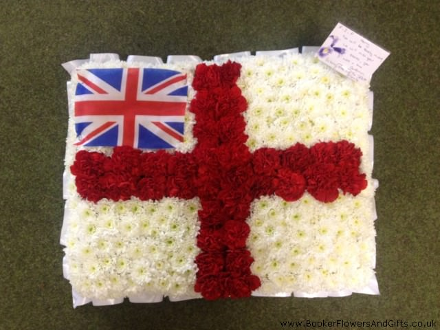 England And United Kingdom Flag: Booker Flowers and Gifts