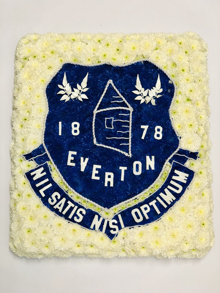 Everton Football Club Flag Funeral Flowers: Booker Flowers and Gifts