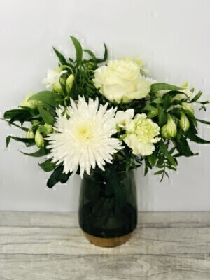 Fragrant Whites Vase: Booker Flowers and Gifts