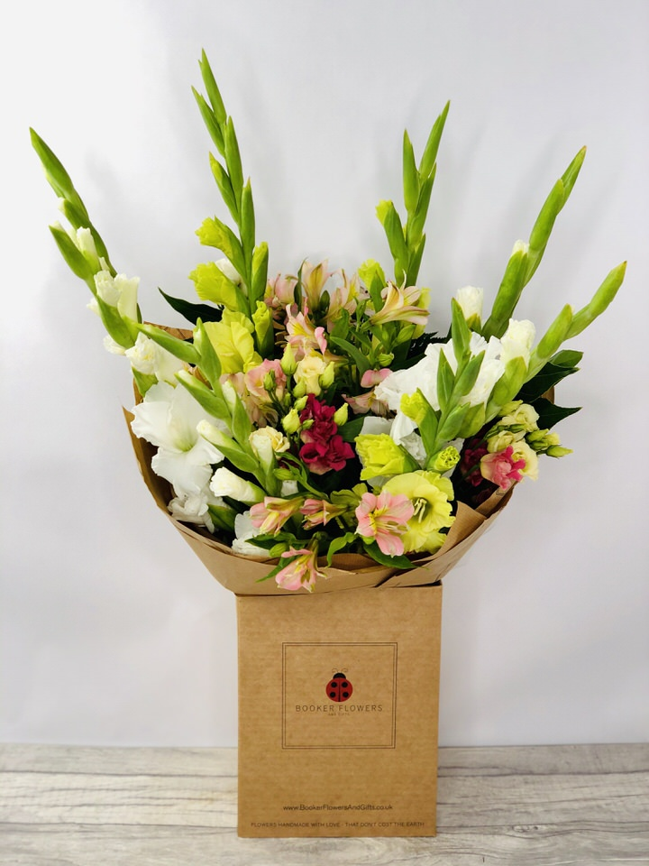 Glorious Gladioli Handtied Bouquet: Booker Flowers and Gifts