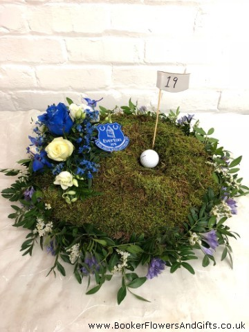 Golf Design Funeral Flowers: Booker Flowers and Gifts