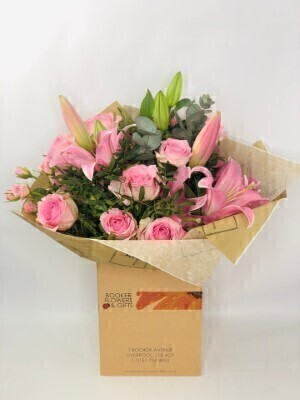 Happy Birthday Pink Pop Hand Tied Large: Booker Flowers and Gifts