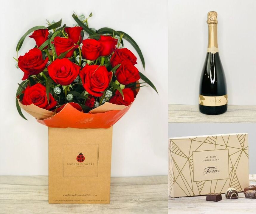 I Love You Gift Set: Booker Flowers and Gifts