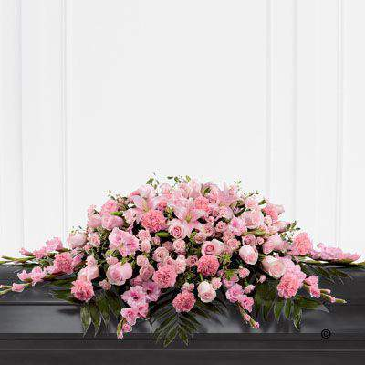 Mixed Casket Spray - Pink: Booker Flowers and Gifts