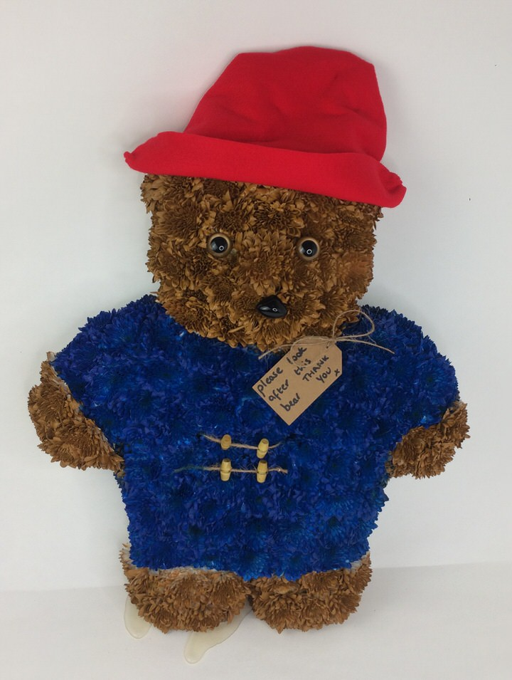 Paddington Bear Funeral Tribute: Booker Flowers and Gifts