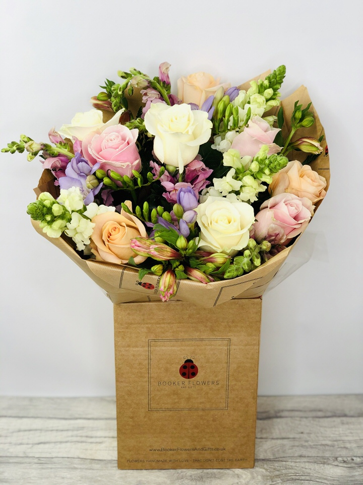 Pastel Fancy Hand-tied Bouquet: Booker Flowers and Gifts