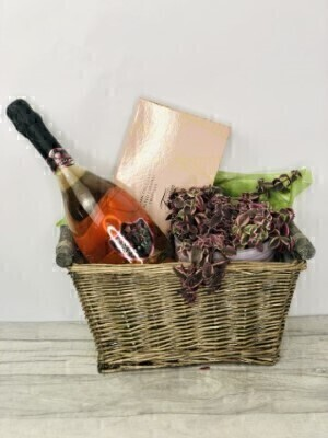 Plant Wine and Chocolates Gift Set: Booker Flowers and Gifts