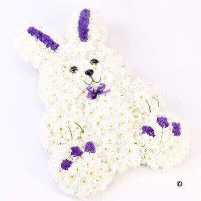 Rabbit Tribute - Blue: Booker Flowers and Gifts