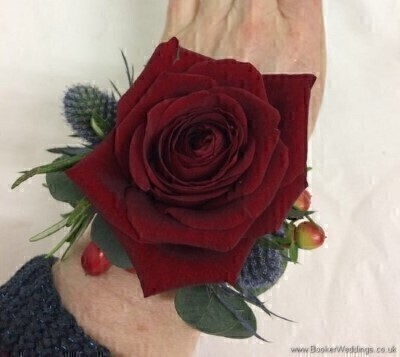 Red Rose Wrist Corsage: Booker Flowers and Gifts