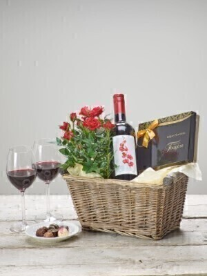 Red Wine Gift Basket: Booker Flowers and Gifts
