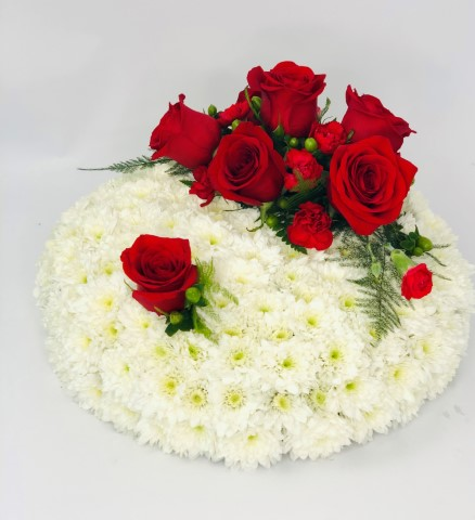 Red and White Posy: Booker Flowers and Gifts