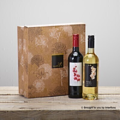 Red and White Wine Gift Set: Booker Flowers and Gifts