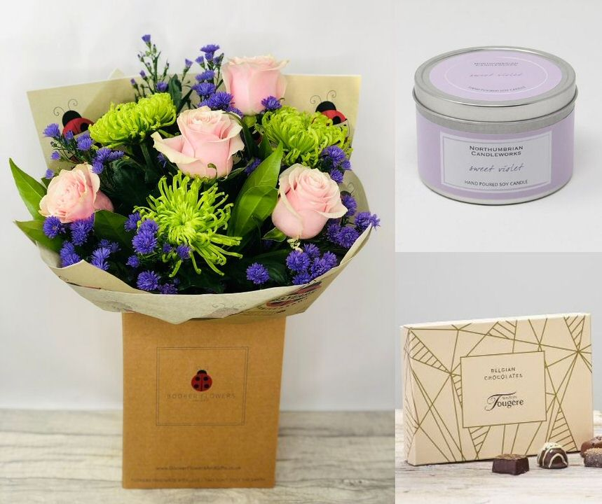 September Birthday Flowers Gift Set: Booker Flowers and Gifts