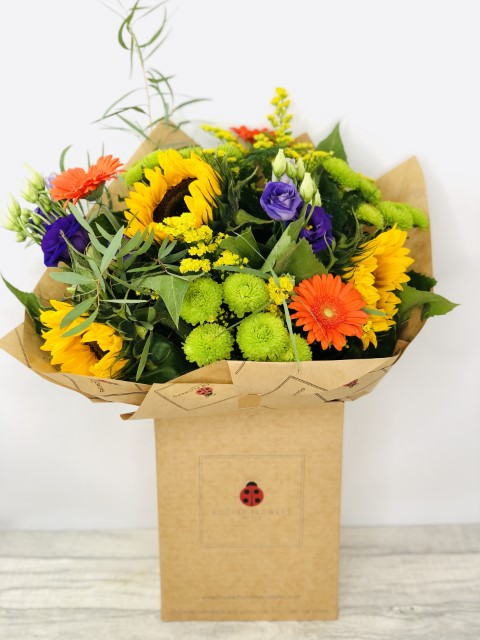 Summer Solstice Sunflower Bouquet: Booker Flowers and Gifts
