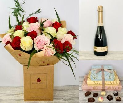 Valentines Romantic Rose Gift Set: Booker Flowers and Gifts