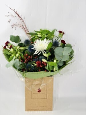 Winter Embrace Berries and Eucalyptus Bouquet: Booker Flowers and Gifts