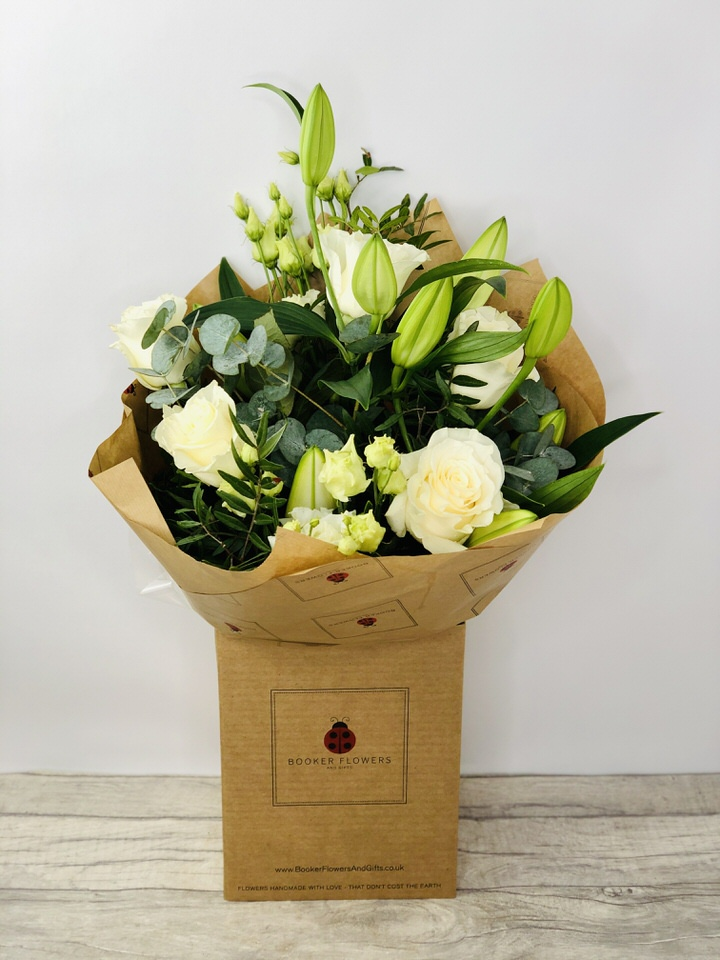 Flower Delivery Liverpool Wonderfully White Hand Tied